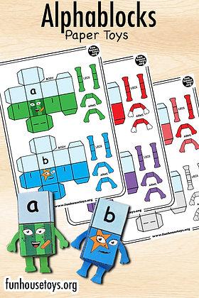 Alphablocks A to Z Paper Toys