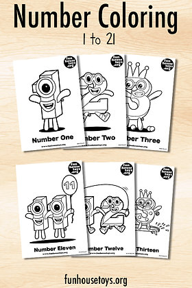 Number Coloring Pages - Digital Download