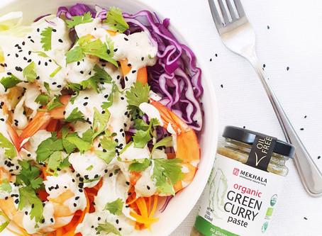 Shrimp Salad with Green Curry Yogurt Dressing