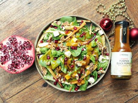 Romaine, Pomegranate, and Caramelised Parsnip Salad