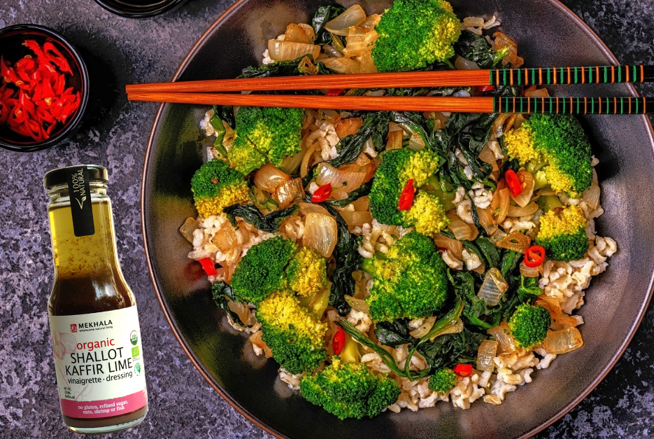 Fragrant Shallot and Kaffir Lime Broccoli Bowl