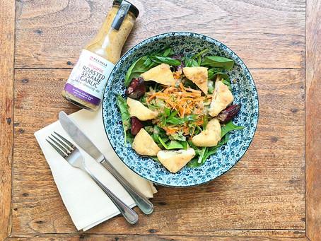 Roasted Sesame Garlic Tofu Salad