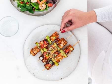 Twisted BBQ Skewers with Red Curry