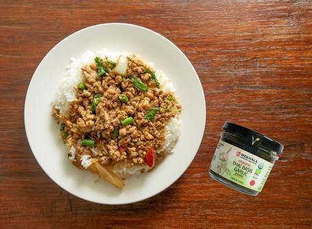 Thai Basil Garlic Pork and Bean Stir Fry (PAT KRAPAO MOO SAP)