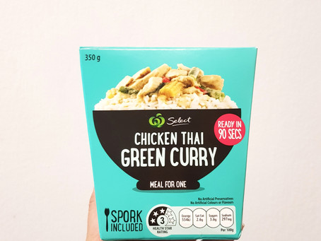Product Review: Woolworth's Select Green Curry Meal For One