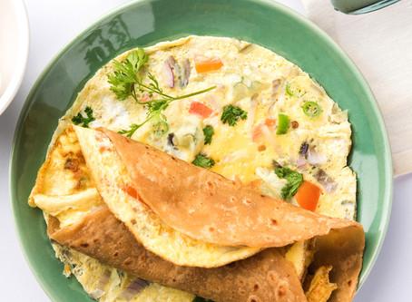 Coriander Ginger Vegetarian Omelette