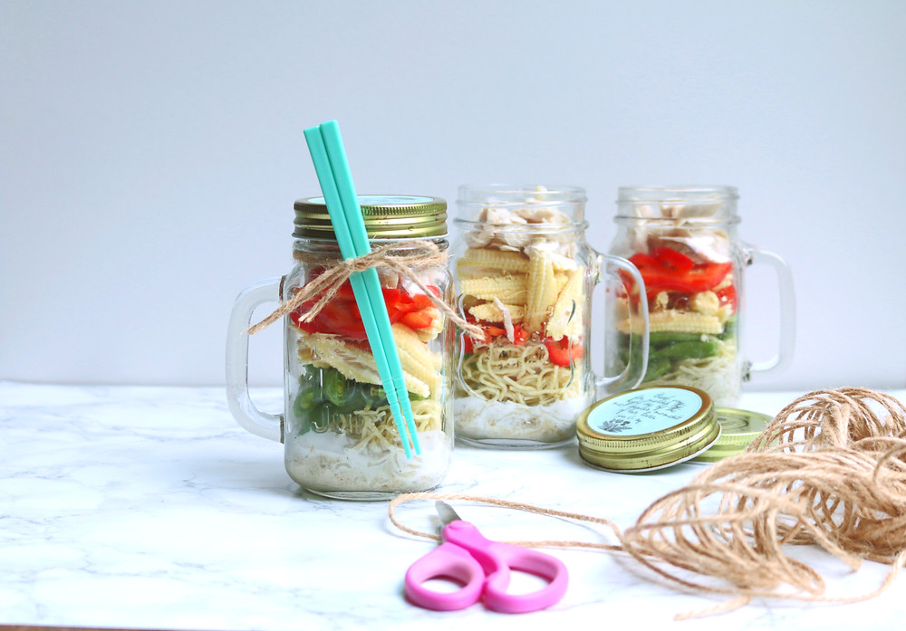 Green Curry Chicken Noodle In A Jar