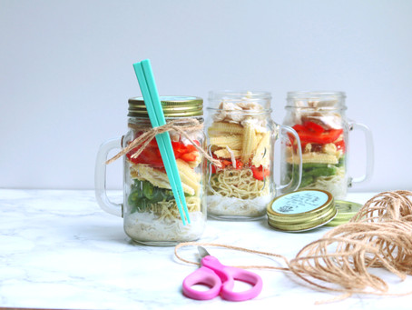 Green Curry Chicken Noodles in a Jar