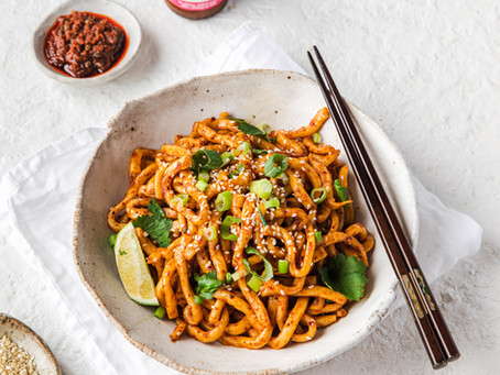 """""""Biang Biang"""" Style Udon (Sichuan Inspired Spicy Noodles)"""