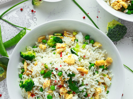 Coriander Ginger Vegetarian Fried Rice