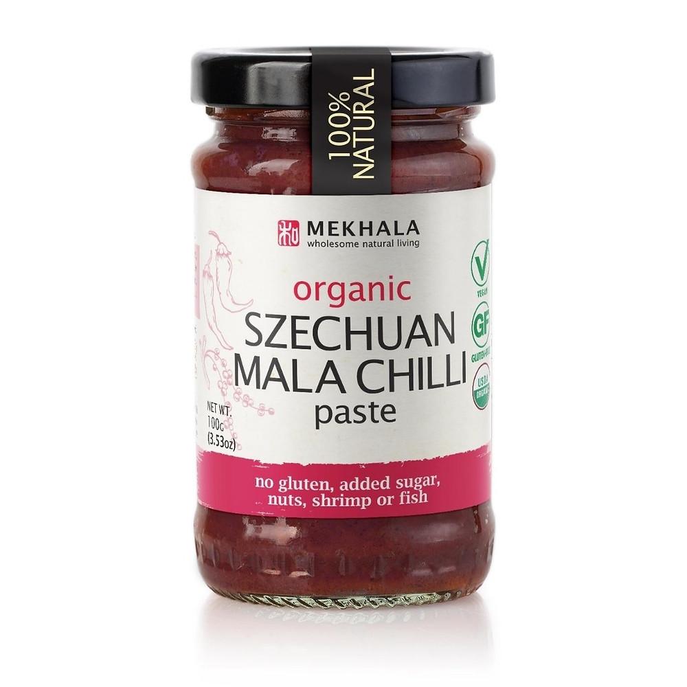 Organic, Szechuan Mala Chilli Paste, Vegan, gluten free, spicy, hot sauce,