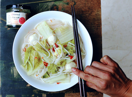 Tom Yum Fishball Noodle Soup