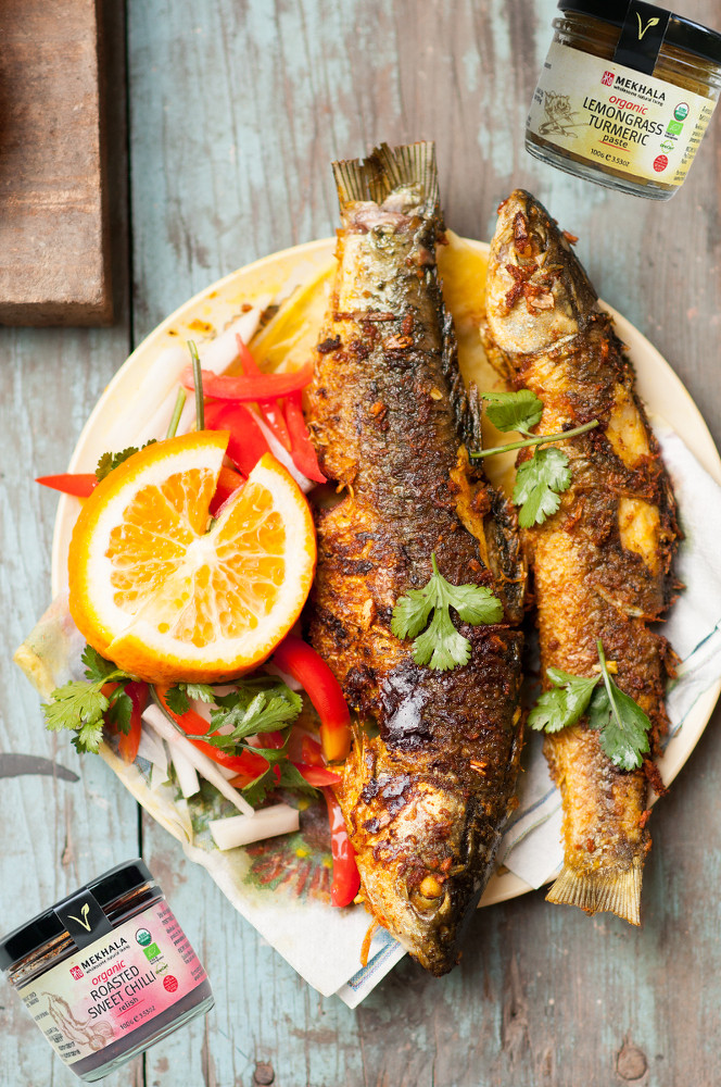 Barbecued Roasted Lemongrass Turmeric Fish