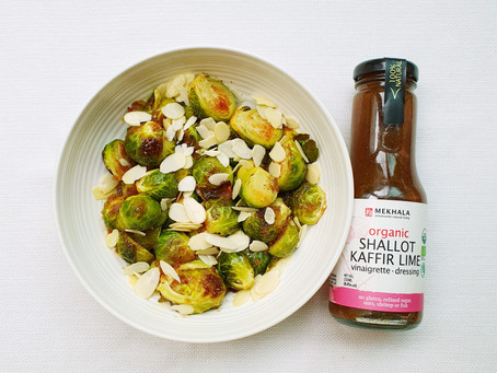 Brussels Sprouts with Shallot Kaffir Lime Sauce
