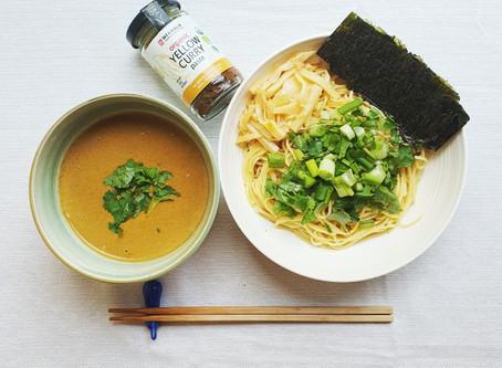 Yellow Curry Tsukemen (Japanese Dipping Ramen Noodles)