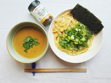 Yellow Curry Tsukemen (Japanese Dipping Ramen Noodles)