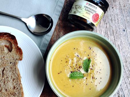 Creamy Lemongrass Turmeric & Coconut Butternut Squash Soup