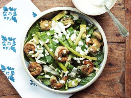 Spinach, Avocado & Prawn Salad