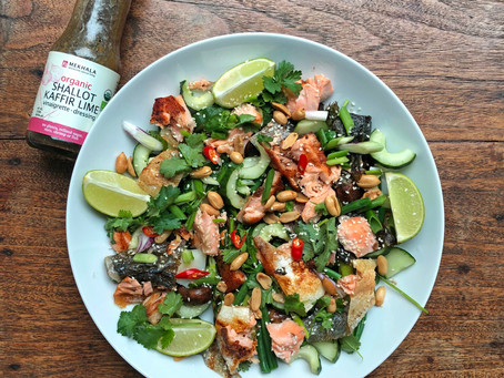 Warm Salmon Salad