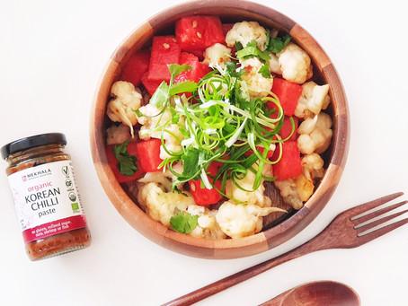Spicy Cauliflower & Watermelon Salad