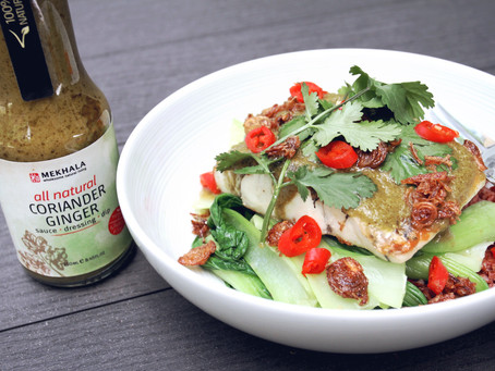 Pan-Fried Barramundi with Coriander Ginger Sauce