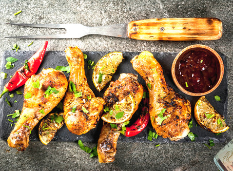 Barbecued Red Curry Spiced Chicken Legs