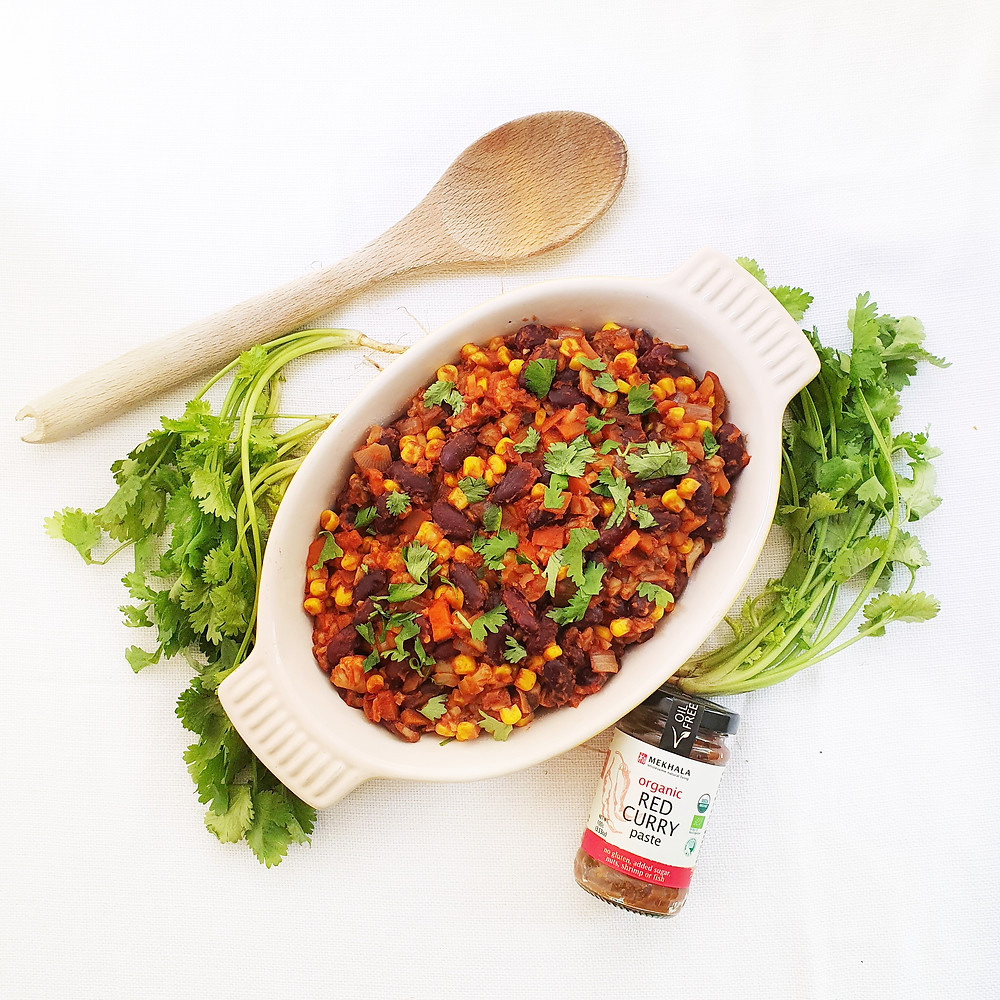 "Spiced Bean Chilli Con ""Carne"""