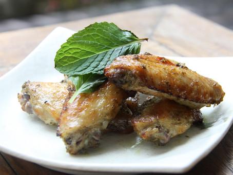 Basil Garlic Chicken Wings