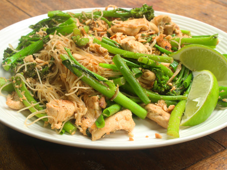 "Easy Chicken, Broccolini and Vermicelli ""Pad Thai"" Stir Fry"