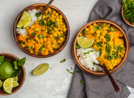 Vegan Pumpkin Chickpea Yellow Curry