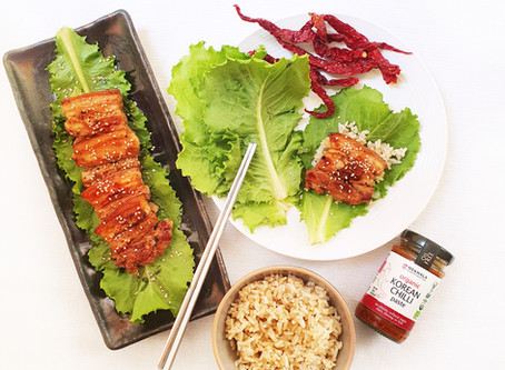 Korean Spicy Pork Lettuce Wraps