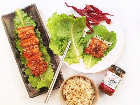 Korean Spicy Pork Lettuce Wraps