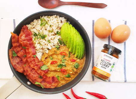 Egg Yellow Curry Breakfast Bowl