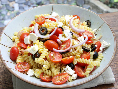 Pasta Salad With Pumpkin Black Pepper Dressing