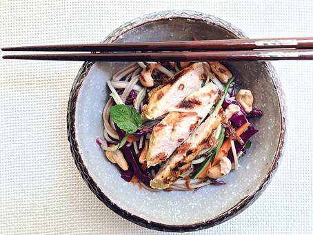 Lemongrass Grilled Chicken Noodle Salad
