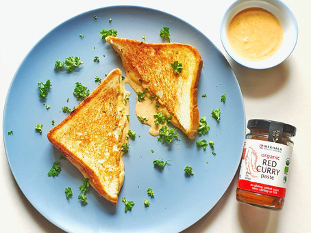 Red Curry Grilled Cheese Sandwich