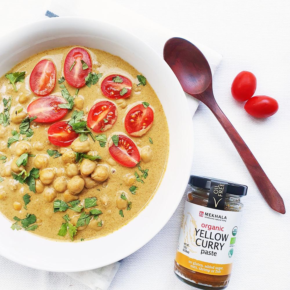 Vegan Pumpkin Chickpea Yellow Curry