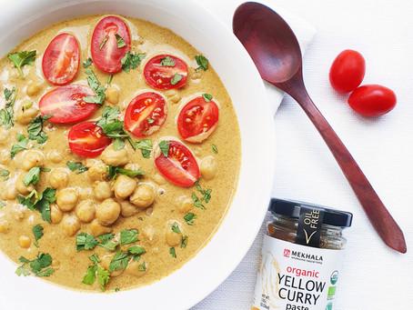 Vegan Chickpea Yellow Curry