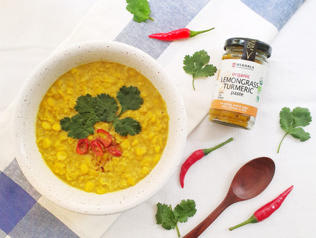 Lemongrass Turmeric Corn Chowder
