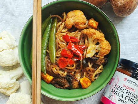 Simple Szechuan Mala Stir Fry Noodles