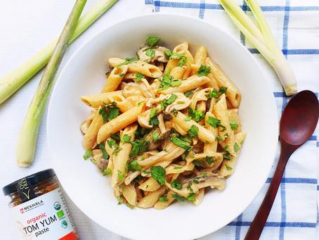 Easy Creamy Tom Yum Mushroom Pasta