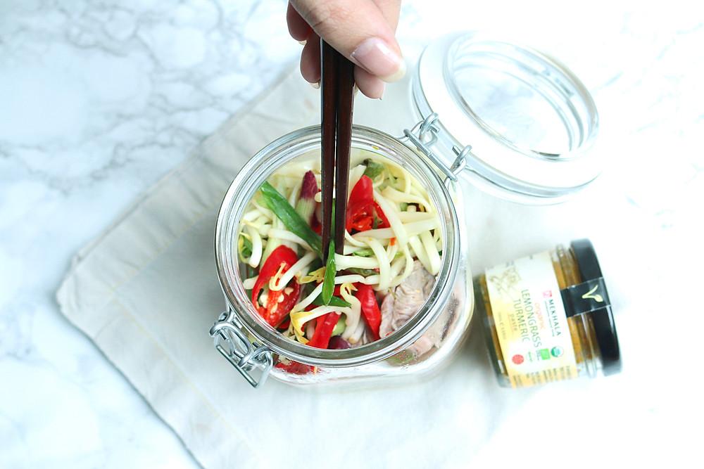 lemongrass beef udon