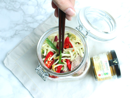 Lemongrass Turmeric Beef Udon In A Jar