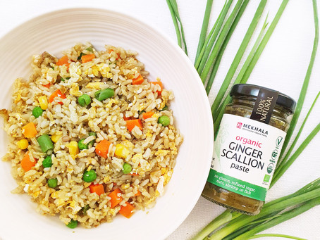 Ginger Scallion Egg Fried Rice