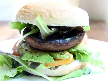 Basil Garlic Portobello Mushroom Burger