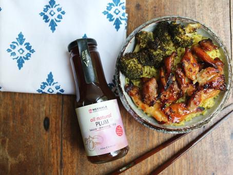Plum Sauce-Glazed Grilled Chicken