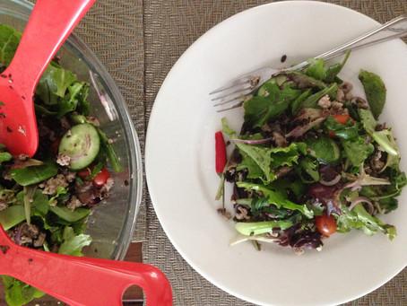 Energy Rice Mushroom Larb Salad