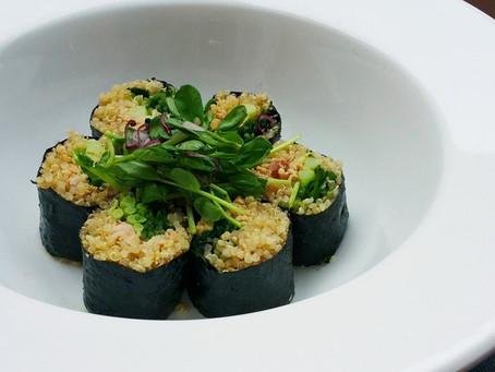"""Miso Lime Tuna Quinoa """"Sushi"""" Rolls"""