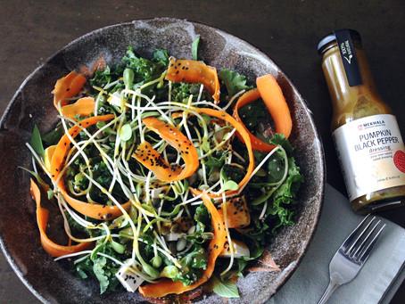 Superfood Salad with Pumpkin Black Pepper Dressing