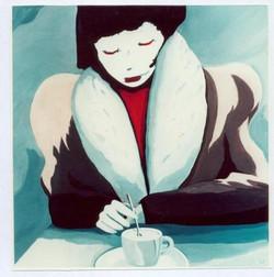 noa-acryl-DRINKING_COFFEE